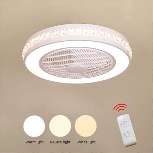 Jinwell ventilatore da soffitto modern creativity simply chandelier fan lampadario fan led dimmerabile ultra-silenzioso risparmio energetico camera da letto soggiorno fan centimetri 58 cm,b