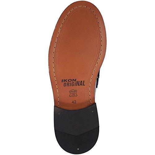 Pour Homme Ikon Original en cuir noir Weaver tissé à enfiler Flâneur Chaussures Bordeaux