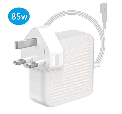 "TOPSELL® Compatible With Macbook Pro Charger 85W Magsafe L-Tip Power Adapter, Replacement MacBook Air Charger 13"" 15"" 17"" Inch, Mid 2009 2010 2011 Mid 2012 Mac Models, MC556B/C A1343 A1278 A1290 A1286"