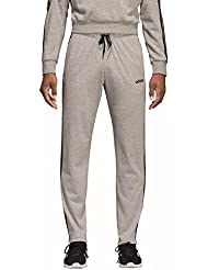 adidas DQ3079, Pantaloni Uomo, Medium Heather/Nero/Mgh Solid Grigio, M