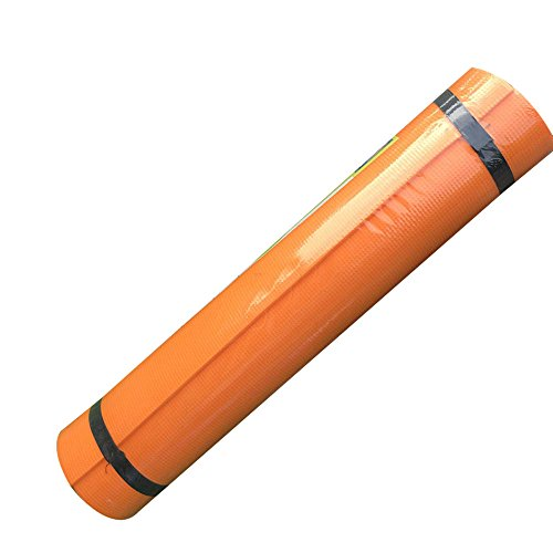 YHLVE 14mm Eva Pure Color klappbare Turnmatte Yoga-Matte Pad Rutschfeste Verlieren Gewicht Wasserdicht Sport Matte Fitness Feuchtraum Pad, Orange, 173*60*0.4cm