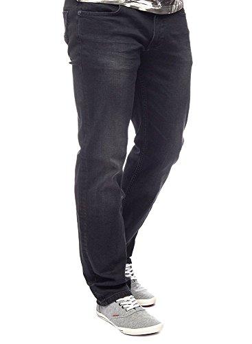 M.O.D - Jeans - Jambe droite - Homme noir Schwarz burned black