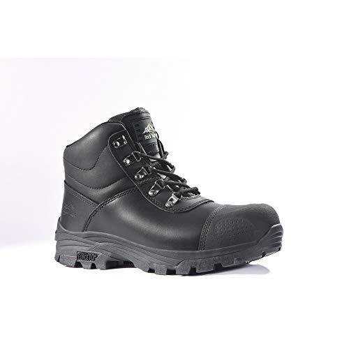 Rock Fall Granit rf170schwarz S3HRO SRC mit Stahlkappe Wasserdicht-Stiefel Sicherheit, schwarz, RF170 Granite 10, 0 voltsV -
