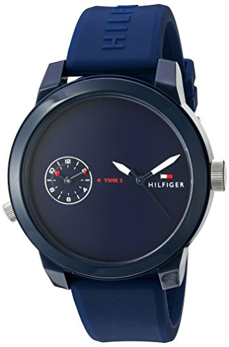 Tommy Hilfiger Denim Analogue Blue Dial Men's Watch – 1791325