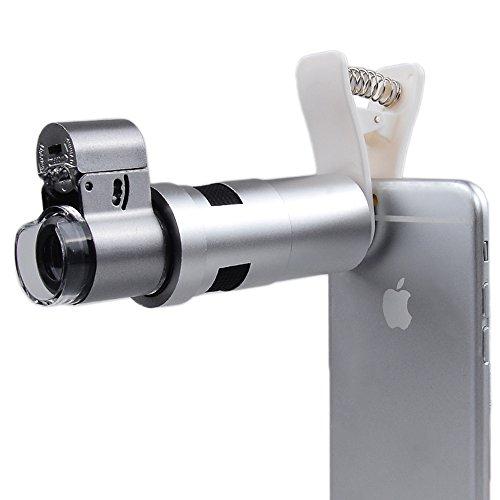 Apexel Schutzhülle 200x optischer Zoom Mikroskop Lupe Objektiv mit Universal Clip für Iphone 6/6S Plus SE Samsung Galaxy S7/S7Edge S6/S6Edge und die meisten Smartphone (keine Vignettierung)