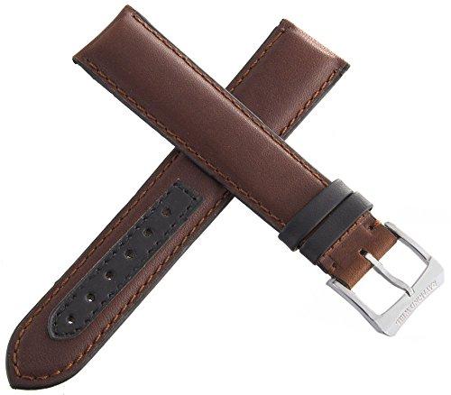 Raymond Weil 20mm Watch cinturino in pelle marrone con fibbia in argento.