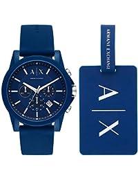 2fd28e328f8c Armani Exchange Reloj Cronógrafo para Hombre de Cuarzo con Correa en  Silicona AX7107
