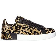 Dolce   Gabbana Chaussures Baskets Sneakers Femme Or 37ffffa08b20