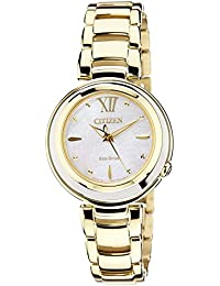 Citizen Damen-Armbanduhr XS Citizen L Analog Quarz Gold EM0336-59D