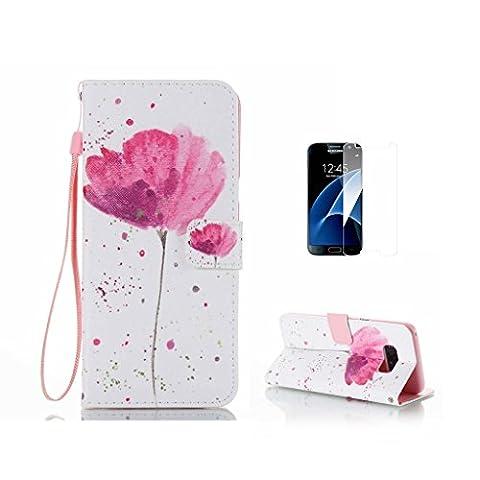 Coque pour Galaxy S8Plus [avec protection d'écran en verre trempé],