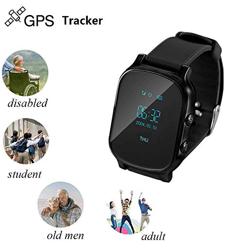 Winnes Smartwatch, GPS + LBS + WiFi Triple Positioning Wear con SIM Card per Activity Tracker, Calorie, Sonno, Chiamata, SMS, Facebook, WhatsAPP.T58 (nero)