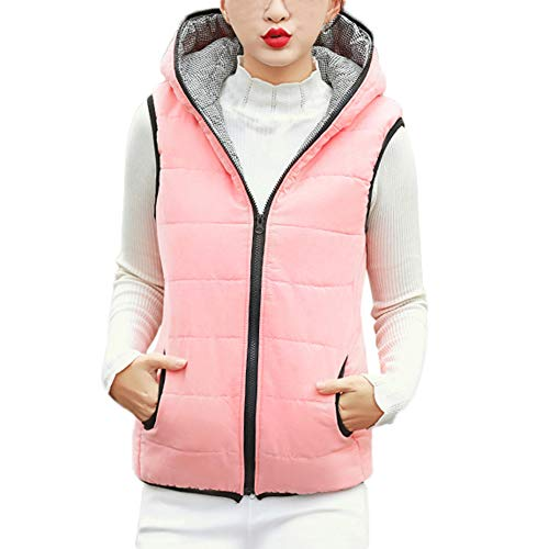 sunnymi Frauen Mantel mit Kapuze Jacke Slim Winter Parka Outwear Mäntel Weste