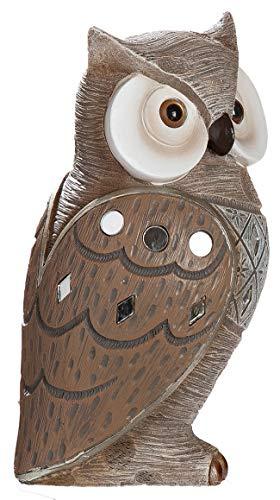 dekojohnson Eule Owl Eulen-Figur - Deko-Eule als Eulen Geschenke für Weihnachten Eulen-Skulptur Spiegelmosaik Braun 19cm