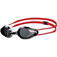 arena Tracks Jr Gafas de Natación, Unisex Adulto, Negro (Smoke / White / Red), Única