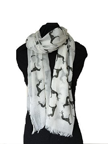 white-with-black-big-greyhound-scarf-with-frayed-edge-lovely-long-soft-scarf-fantastic-gift