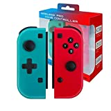 Controller Wireless Bluetooth Per Nintendo Switch,mini Joystick Per Console Nintendo Switch,controller Gamepad Remoto Pro Joypad,compatibile Con Interruttore Joycon,rosso(R) E Blu(L),non Originale