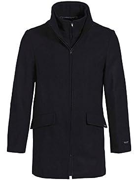 DALMARD MARINE-Chaqueta 3/4 para hombre en lana Made in France DALMARD Calais, color azul marino