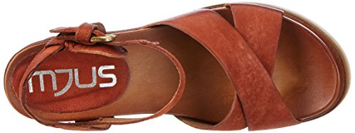 Mjus 872009-0201, Sandales  Bout ouvert femme Rot (Cannella)