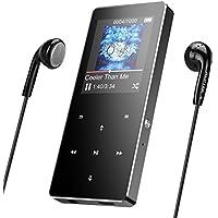 Bluetooth HiFi Touch Bedienfeld Metall 16GB MP3 Player, mit Touch Button, FM-Radio/Aufnahme, 1.8in TFT-Farbbildschirm, Unterstützung bis zu 128 GB, von AGPTEK B05ST, Grau