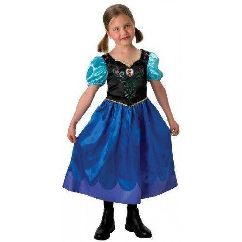 Mädchen Disney Die Eiskönigin klassisch Anna Prinzessin büchertag Woche Halloween Party Kostüm Kleid Outfit 3-14 Jahre - Blau, Blau, 11-12 Years
