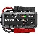NOCO Boost Plus GB70 2000A 12V UltraSafe Booster Batterie Jump Starter pour Moteurs à Essence Jusqu'à 8L et Moteurs Diesel Jusqu'à 6L