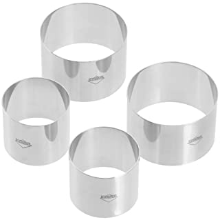 Kuchenprofi Rosti Dessert Decorating Ring Set Stainless Steel Silver 4 Piece Set 2 (6 cm x 6 cm x 5 cm) & 2 (8 cm x 8 cm x 5 cm) (B0009Q2LYI) | Amazon price tracker / tracking, Amazon price history charts, Amazon price watches, Amazon price drop alerts