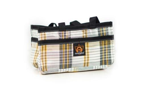 Kensington Show Tote Bag, White/Gray/Orange