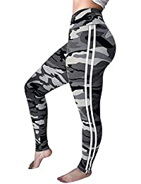 Camouflage Leggings Pantalons d entraînement de Mode pour Femmes Fitness  Sports Gym Running Yoga Pantalons 8abeb791cc5