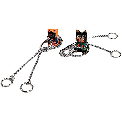 DINGANG New Training Dog Collars Snake P Choke Metal Chain Collar For Dogs XS S M L XL 2