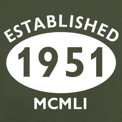 Gegründet 1951 Römische Ziffern - 66 Geburtstag - Herren T-Shirt - 13 Farben Olivgrün