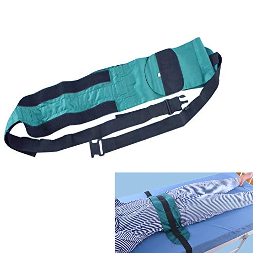YAOBAO Care Roll Belt Bed Restraint Band The Old Trunk Medical Fixing Belt Protection Belt Belt Body Bandage Wheelchair Bound,M (Trunk Bed)