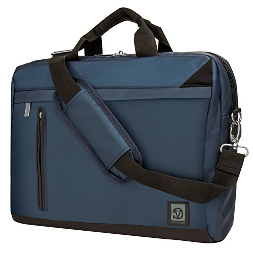 Crossbody Mesenger Tasche für MSI 39,6cm 35,6cm Laptop GS/GL/GT/GS/GE Serie blau blau 39,6 cm (15,6 Zoll)
