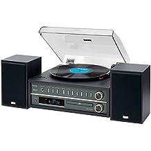 Teac MC-D800-B Plattenspieler/CD-System (Bluetooth, CD-Player, USB, UKW/MW Tuner, 2-Wege Lautsprecher) Schwarz