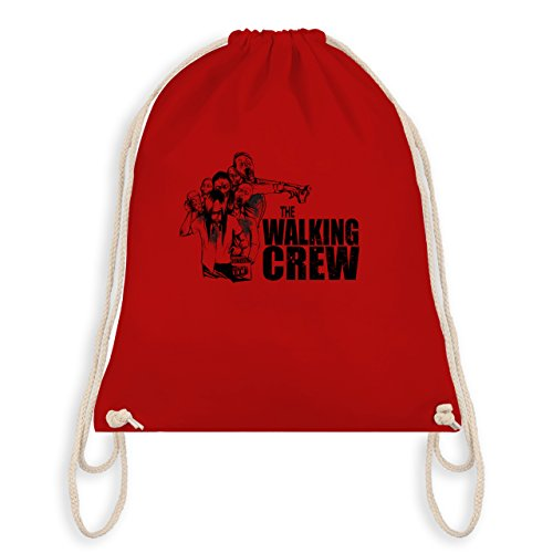 JGA Junggesellenabschied - The Walking Crew - Zombie JGA - Turnbeutel I Gym Bag Rot