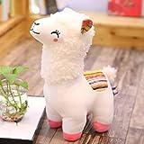 DWSM Super Carino Erba Fango Cavallo Peluche Giocattolo Alpaca Bambola Cuscino Oversize Bambola Bambini Regalo di Compleanno 25Cm Bianco
