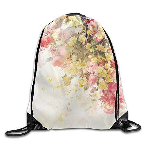 CSXKUL Digital Painting of Floral Background Drawstring Bags Visor Backpack for Teens College Plaid Womens Visor