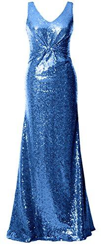 MACloth - Robe - Trapèze - Sans Manche - Femme Bleu