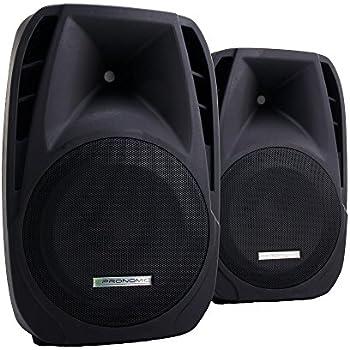 paar 20cm 8 zoll dj pa aktiv boxen lautsprecher 400w outdoor flansch musikinstrumente. Black Bedroom Furniture Sets. Home Design Ideas