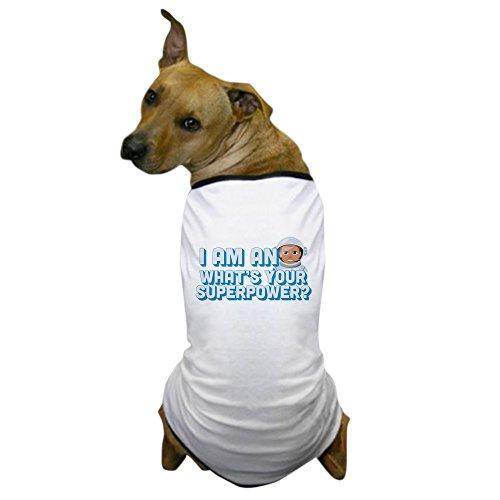 CafePress Emoji Astronaut Superpower Hunde-T-Shirt, X-Large, weiß