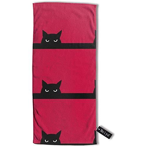 JHDF 12 Katzenhandtuch Reisetuch Badetuch 80 * 130 cm Mehrzweckhandtücher für Badegesichtsgymnastik und Spa