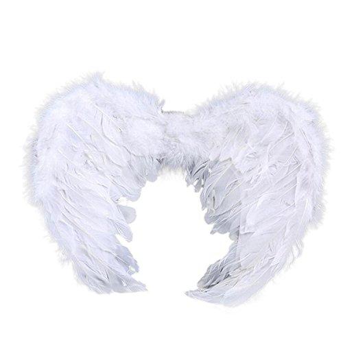 Engels flügel für Kinder und Erwachsene Halloween Karneval (Maskierte Weiß Kostüme)