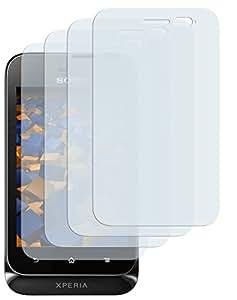 4 x mumbi Displayschutzfolie Sony Xperia Tipo Schutzfolie Xperia CrystalClear unsichtbar