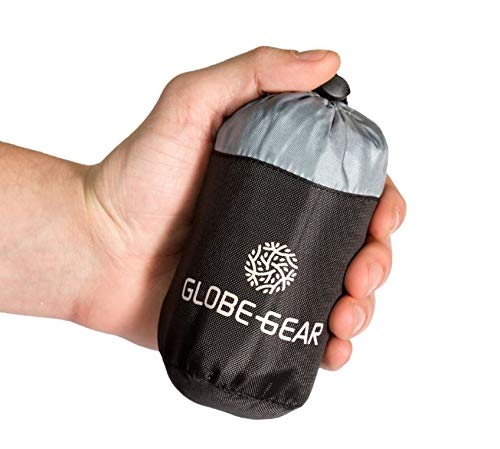 GLOBEGEAR kleinste Reiseschlafsack WELTWEIT/Federleicht, angenehm auf der Haut, Gute Luftzirkulation/Perfekt für Hostels und Tropische Länder geeignet.