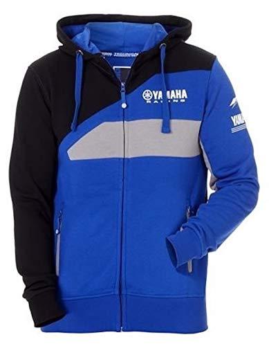 Preisvergleich Produktbild Yamaha MotoGP Paddock Blue 2018 Herren Zip Hoodie NHI blau,  Größe: L