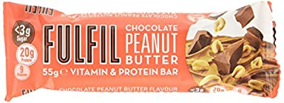 Fulfil Chocolate Peanut Butter Vitamin & Protein Bar 55g, Pack of 15 from Fulfil