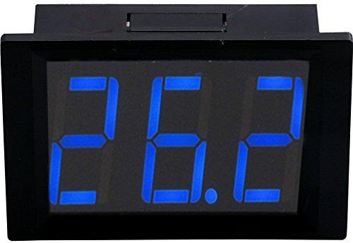 Yeeco XH-B312 Eingebettetes DC 10-14V Digital-Thermometer-Thermostat-Temperatur-Verkleidungs-Messinstrument -50 - 110 ℃ Präzisions-Temperatur-Detektor-Maß (Schwarze Shell / Blau LED)