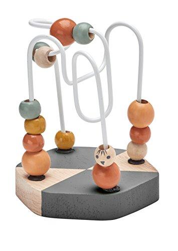 Kids Concept- Holzspielzeug Kugelspiel NEO Spielzeug - Geschicklichkeitsspiel, 9x9x13cm, Mehrfarbig
