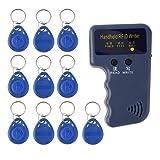 Dailyinshop Hand-Kopierer/Verfasser 125KHz RFID/Leser / Duplizierer mit 10PCS Identifikations-Umbauten, blau