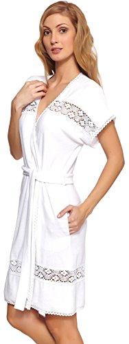 Antie Femmes Robe de Chambre Stella Blanc