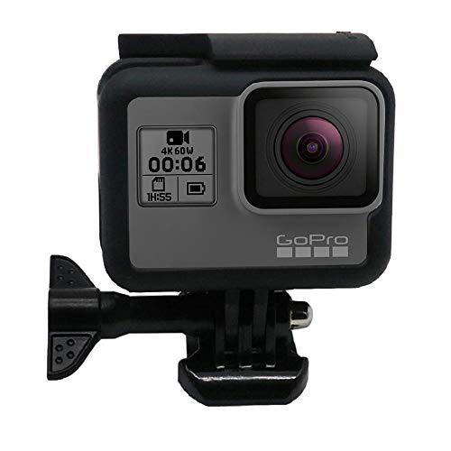 AOLVO Standard-Rahmenhalterung für GoPro Hero7 / Hero6 / Hero5 schwarz Schutzgehäuse mit Schnellverschluss für GoPro Hero7 / Hero6 / Hero5 Action Kamera